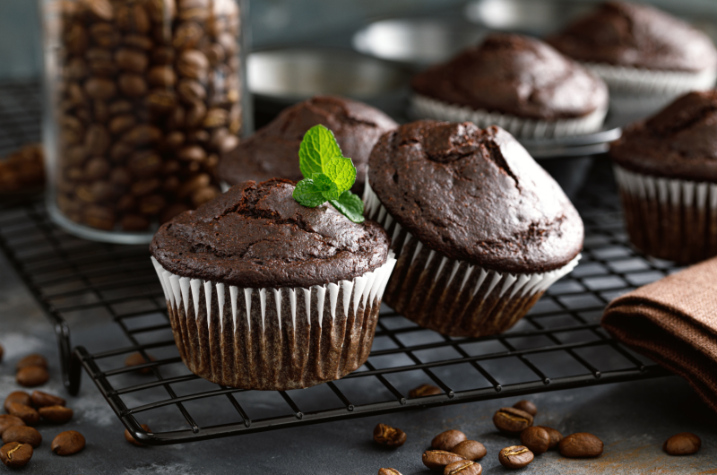 Cannabis Infused Double Chocolate Muffins