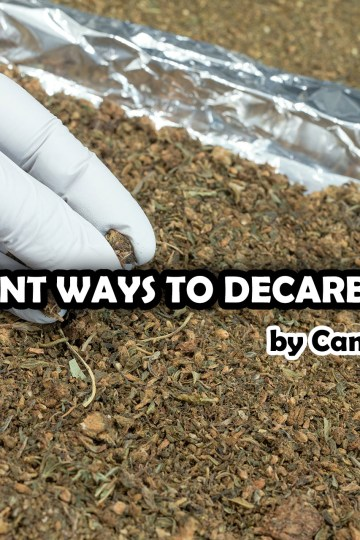 Different ways to decarboxylate cannabis