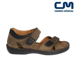 sandales ad2281 marron profil