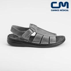 sandales texas noir profil
