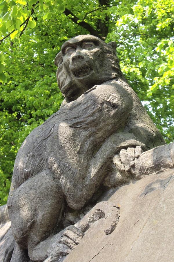 Cardiff Animal Wall - Baboons