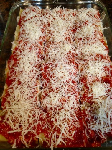 lasagna rolls with sauce and cheese 2