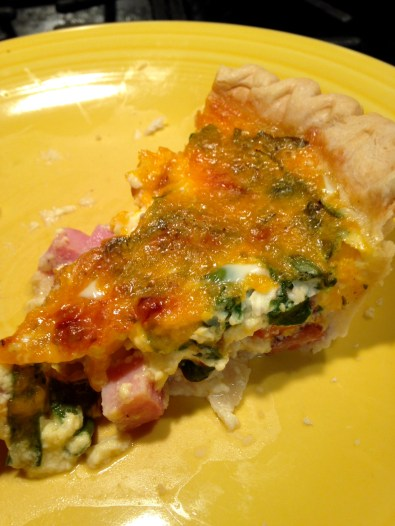 ham, cheese and spinach quiche slice 2