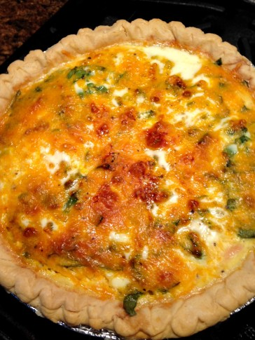 ham, cheese and spinach quiche whole 2