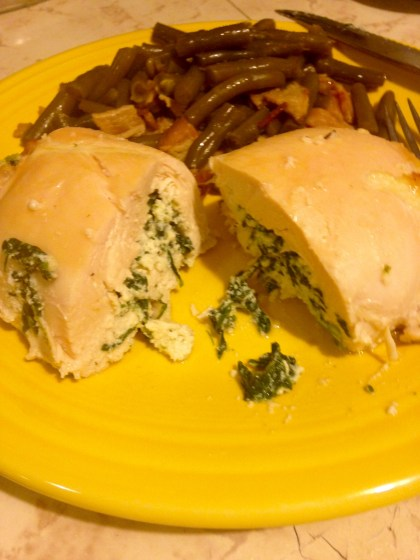stuffed chicken breast - plated