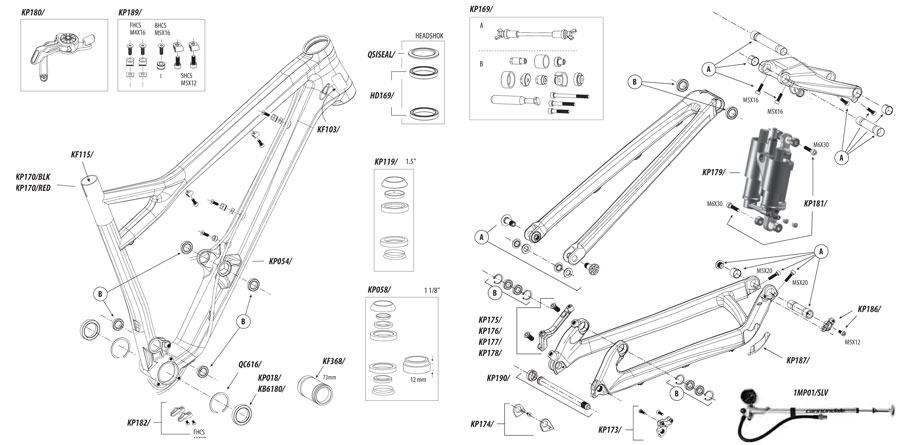 Cannondale Jekyll (2011-2013) Parts List and Exploded