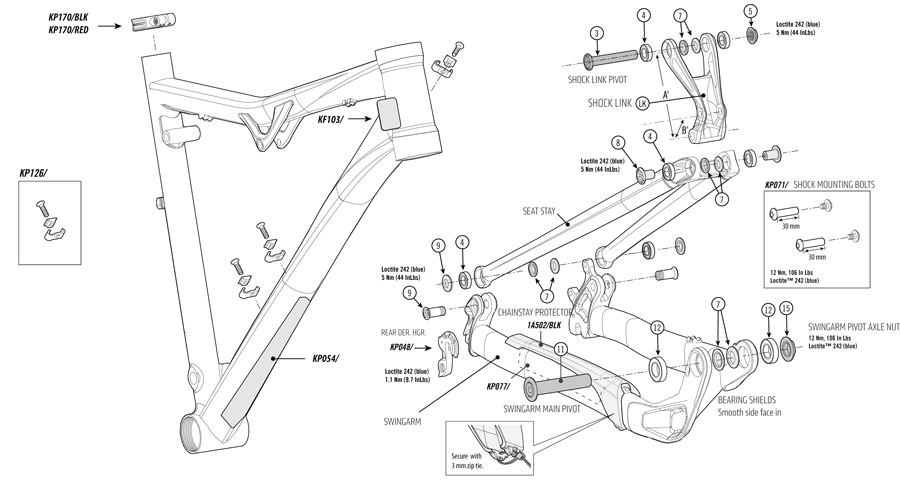 Cannondale Rush 29er (2014) Parts List and Exploded