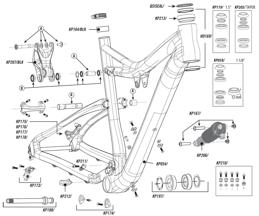 Cannondale Scalpel 29er Carbon Parts List and Exploded