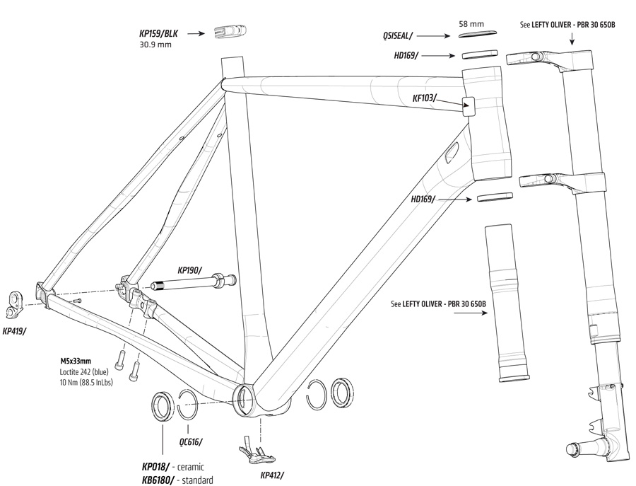 Cannondale Slate Parts List and Exploded Diagram