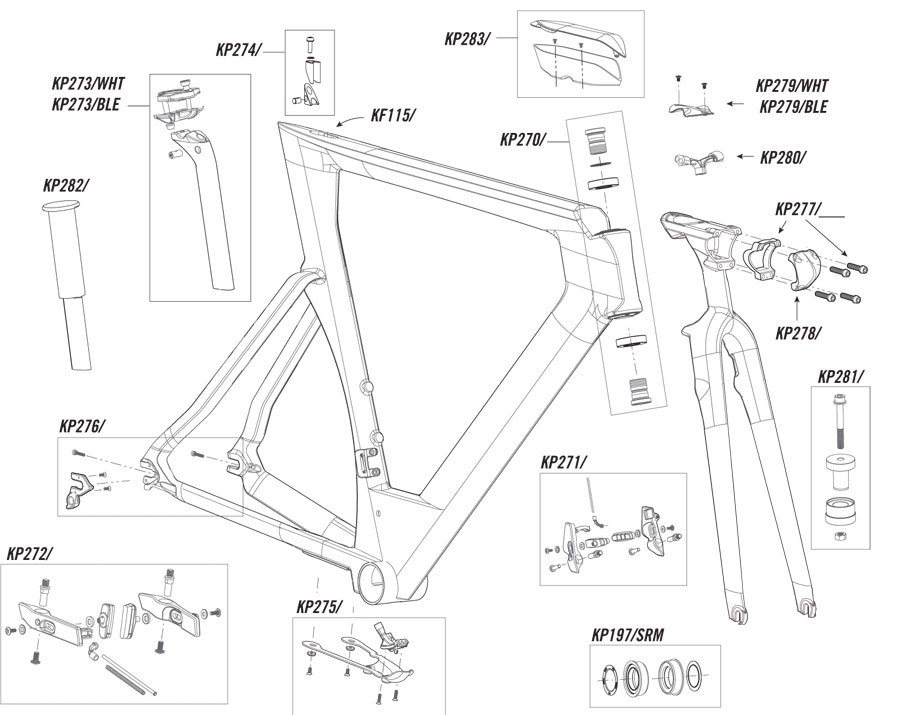 Cannondale Slice RS (2013) Parts List and Exploded Diagram