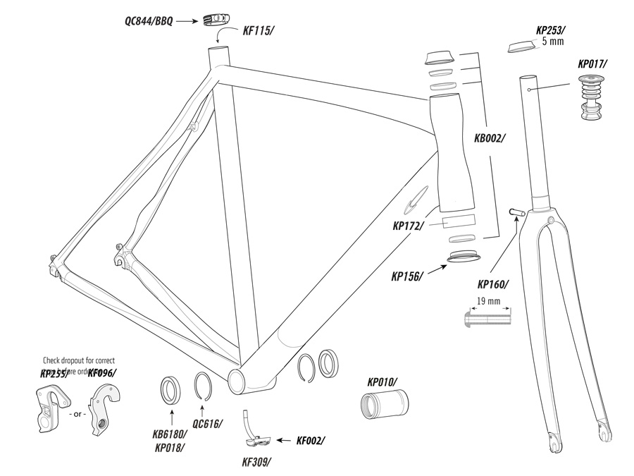 Cannondale Synapse Alloy Parts List and Exploded Diagram