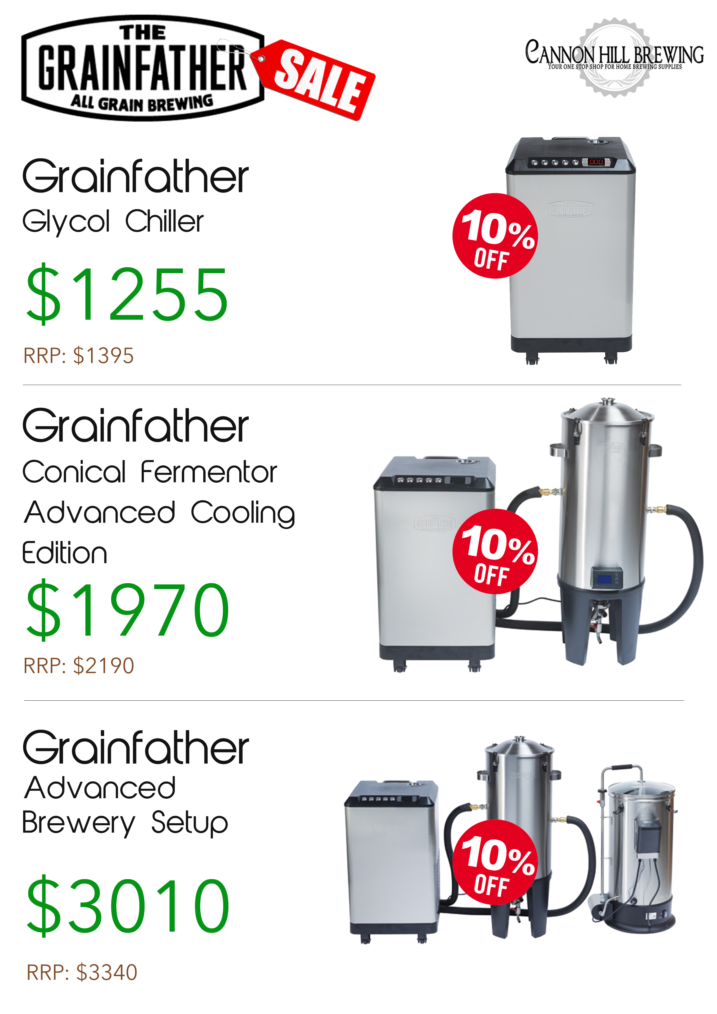 grainfather brewery setup specials