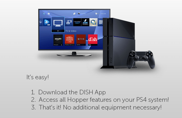 Get DISH on your PlayStation 4 or PS3 right now - Cannon Satellite TV
