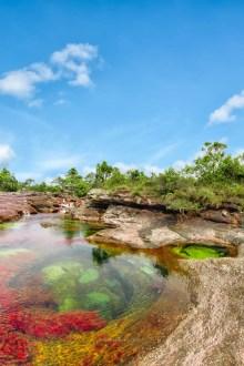 Jacuzzis naturales en el sector Los Ochos / Caño Cristales, Colombia