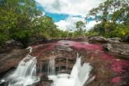 Cascadas subiendo por el Sendero del Águila / Caño Cristales, Colombia