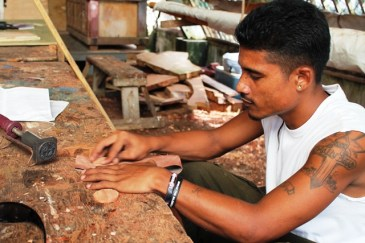 Alumni Linton Baso graduated from the WAM program in 2010 and is now a full-time instructor with the program. In 2014, he also graduated from a program in the Australia Pacific Technical College and is passing on his newly-learned skills to trainees.