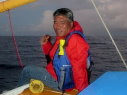 Jason Ralpho on board the Jitdam Kapeel. Photo: WAM