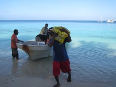 The WAM team brought gifts of food for the community on Tobal village Aur Atoll IMG_0060