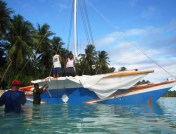 The crew gets Jitdam Kapeel ready for the return voyage to Majuro Atoll IMG_0083