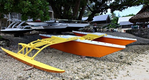 One of the two canoes built by the Class of 2016. Photo: J. Bowman
