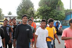 Trainees partipate in WAM Walk-a-Thon for Health. Photo: Suemina Bohanny