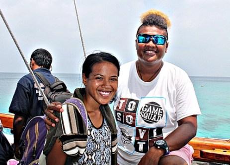 Sailing to Eneko trainee Angi Abal and crew member of Okeanos. Photo by: Rosan Bartolome