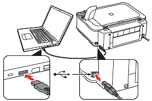 How to connect the machine to the computer (USB /wireless
