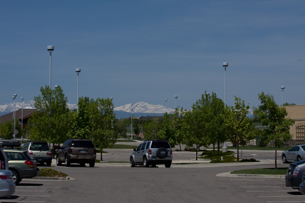 The Rocky Mountainsfrom a distance