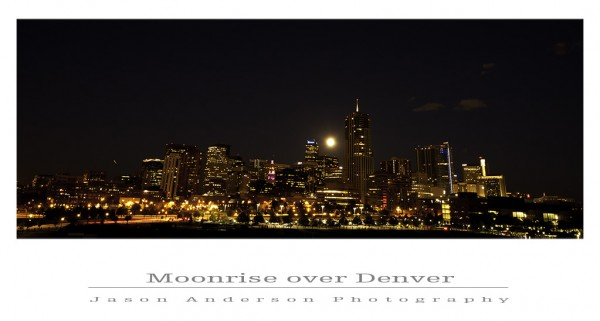 Moonrise Over Denver