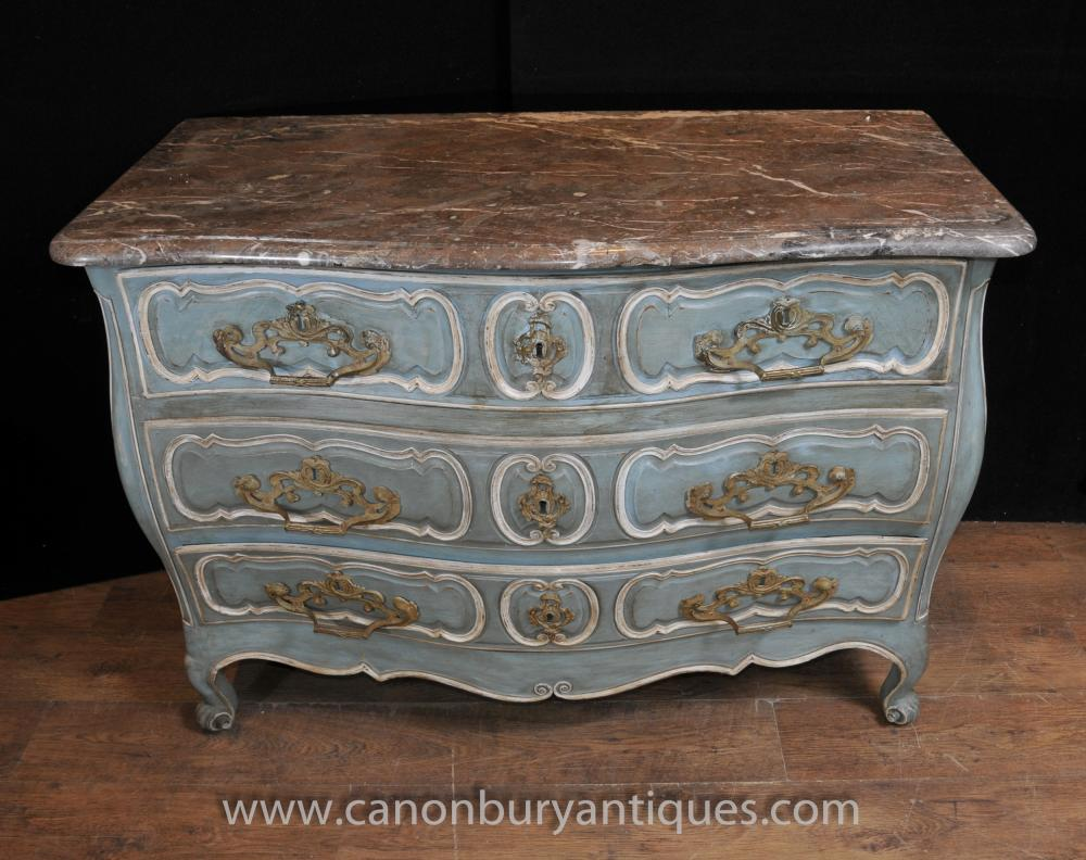18th Century French Provincial Bombe Commode Chest Drawers