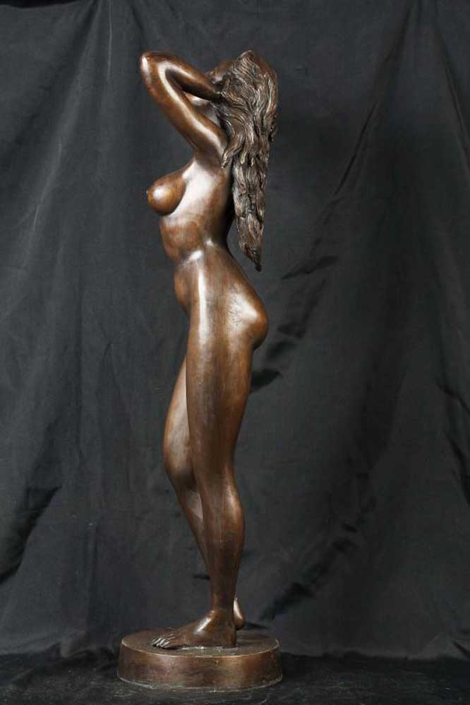 3ft Female Bronze Nude Figurine Statue Naked Classic Lady