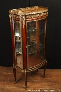 Antique French Empire Display Cabinet Bijouterie Glass Fronted