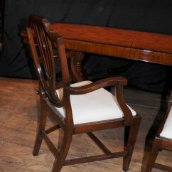 Ladderback Dining Chairs Plastic Stackable Lawn Set 8 Regency Shield Back Mahogany Diners Chair Furniture