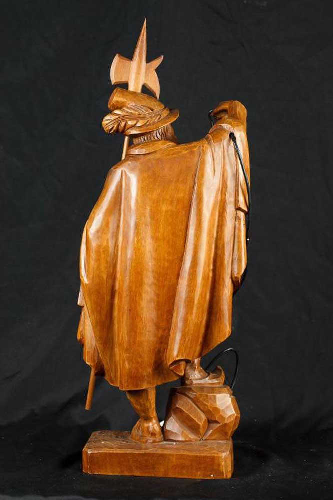 Male Antique Porcelain Lamps Figurine