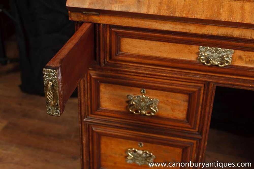 Antique Georgian Gentlemens Bureau Desk Mahogany Desks