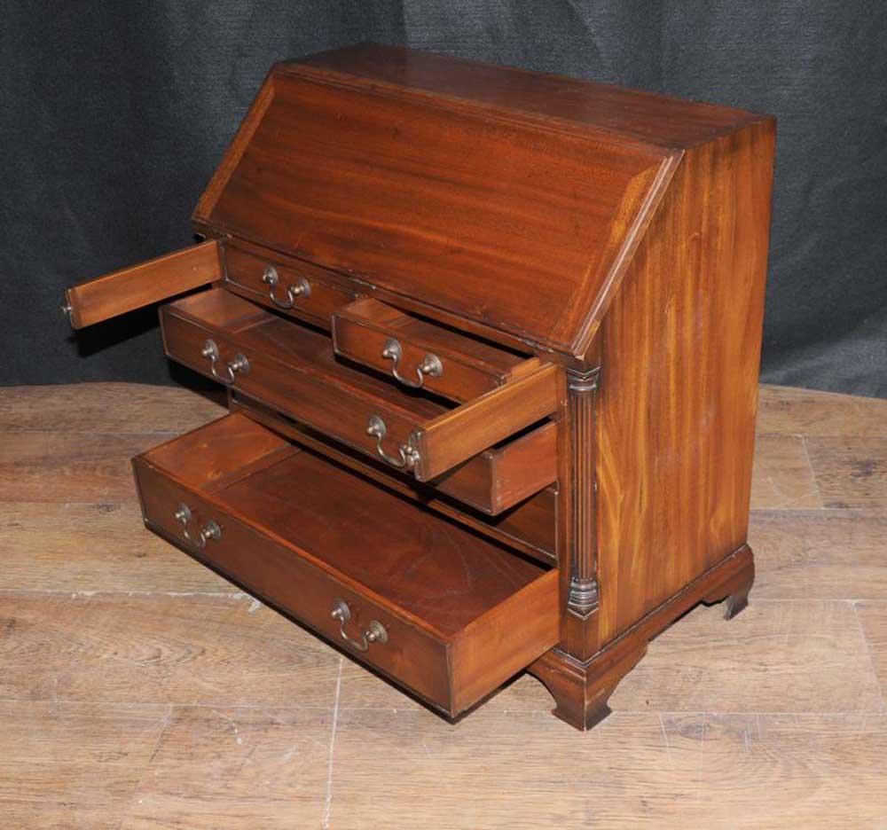 Antique Kids Bureau Bookcase Desk Mahogany Childrens Furniture