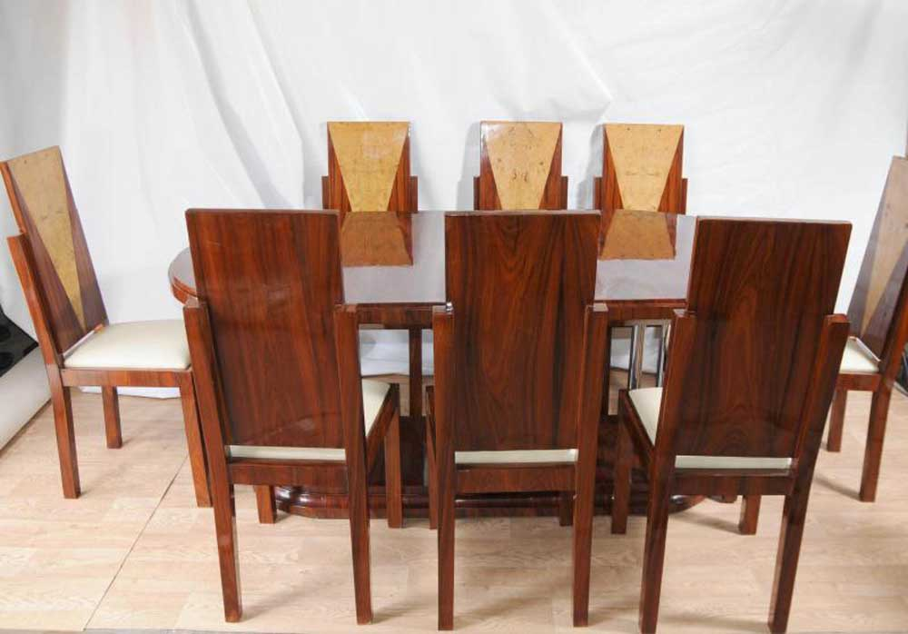 Art Deco Dining Set Table and Chairs Suite 1920s Furniture