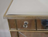 Art Deco Mirrored Commode Cabinet Chest Bedroom