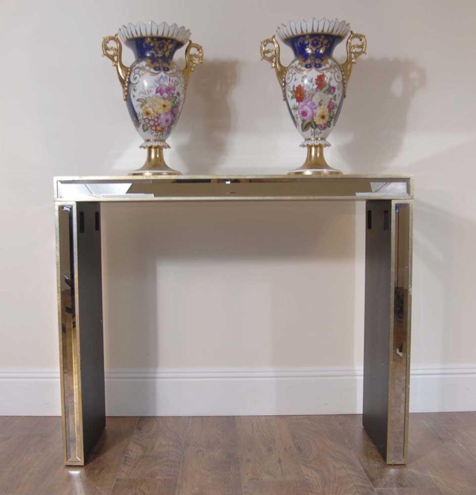 Art Deco Modernist Mirrored Console Table Retro