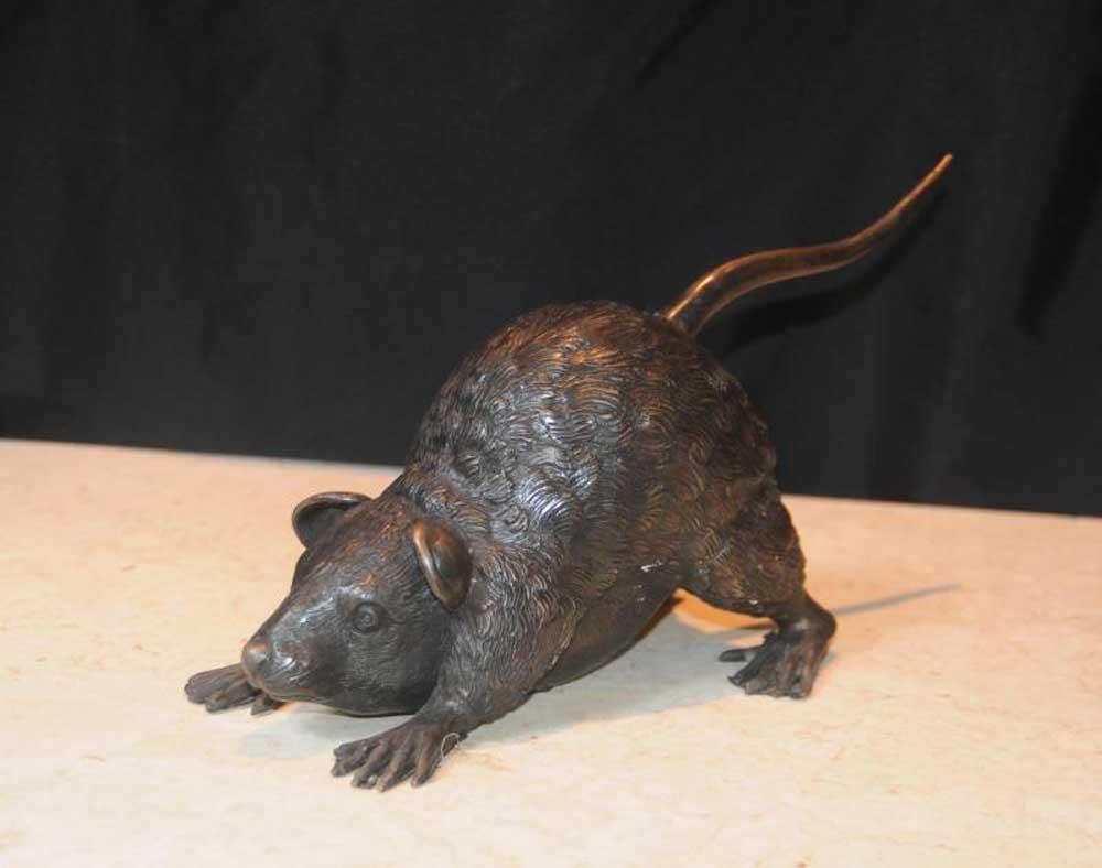 Bronze Rat Statue Rats Animals Mammals Casting