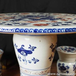 Stool Chair In Chinese Leather Armless Nanking Porcelain Table Garden Set Seat Pottery Chairs