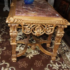Round Dining Table For 6 Chairs Black Velvet Throne Chair French Rococo Gilt Console Hall Marble Top