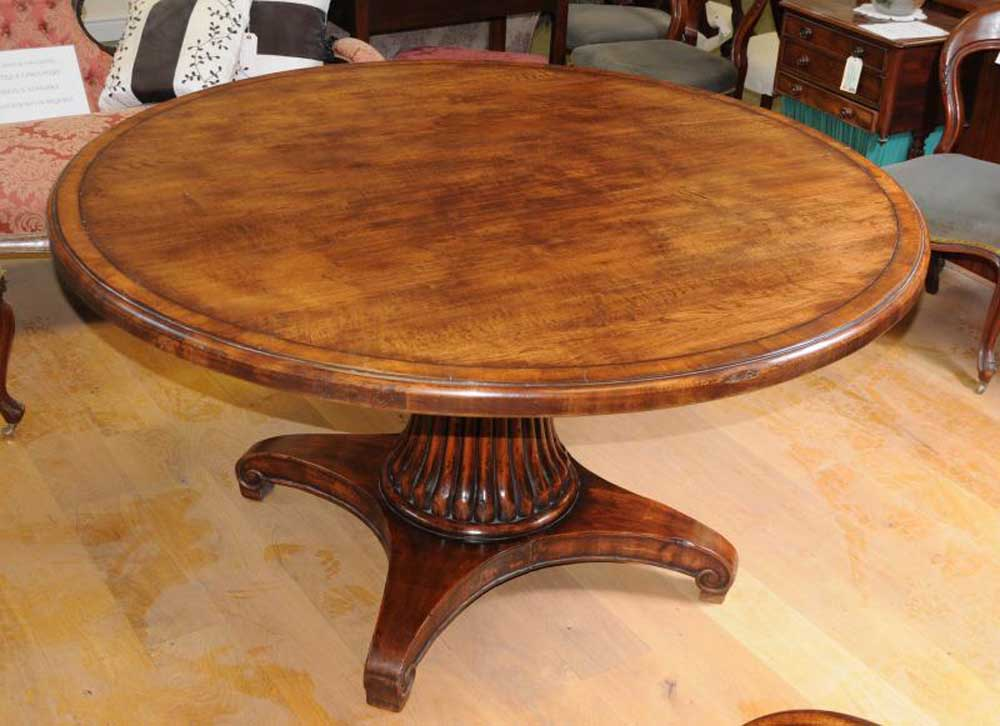 round card table and chairs used dental french oak dining farmhouse furniture refectory tables