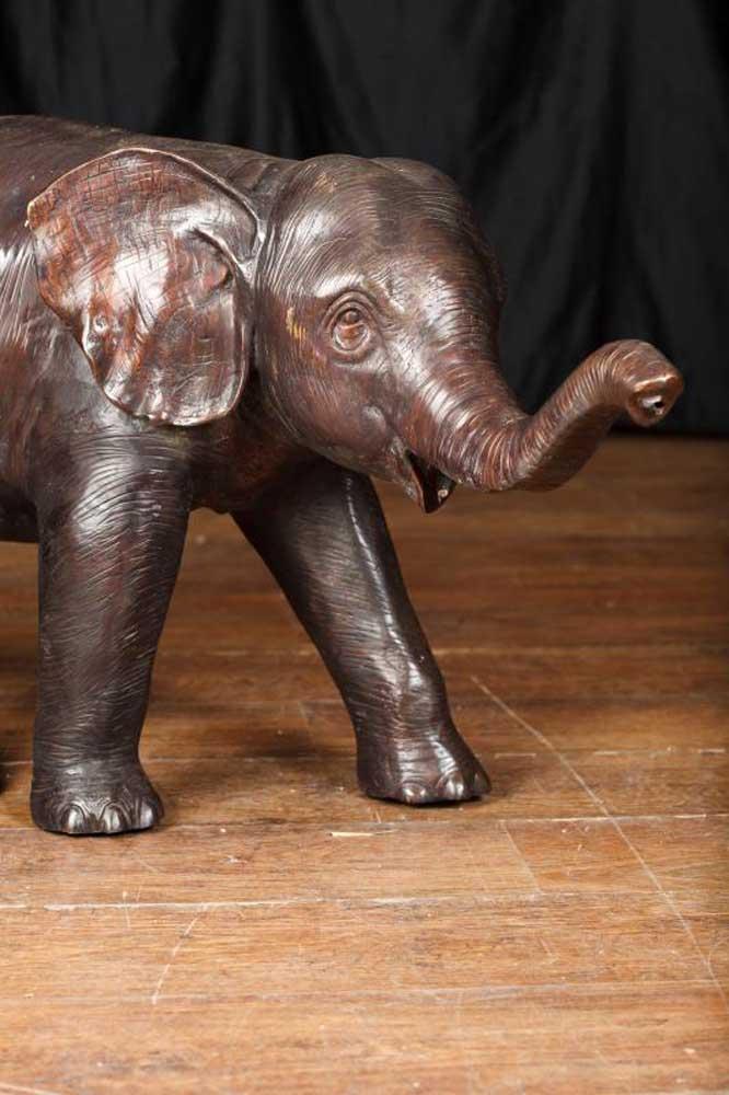 Large Bronze Elephant Statue Casting Dumbo Animal Garden Art