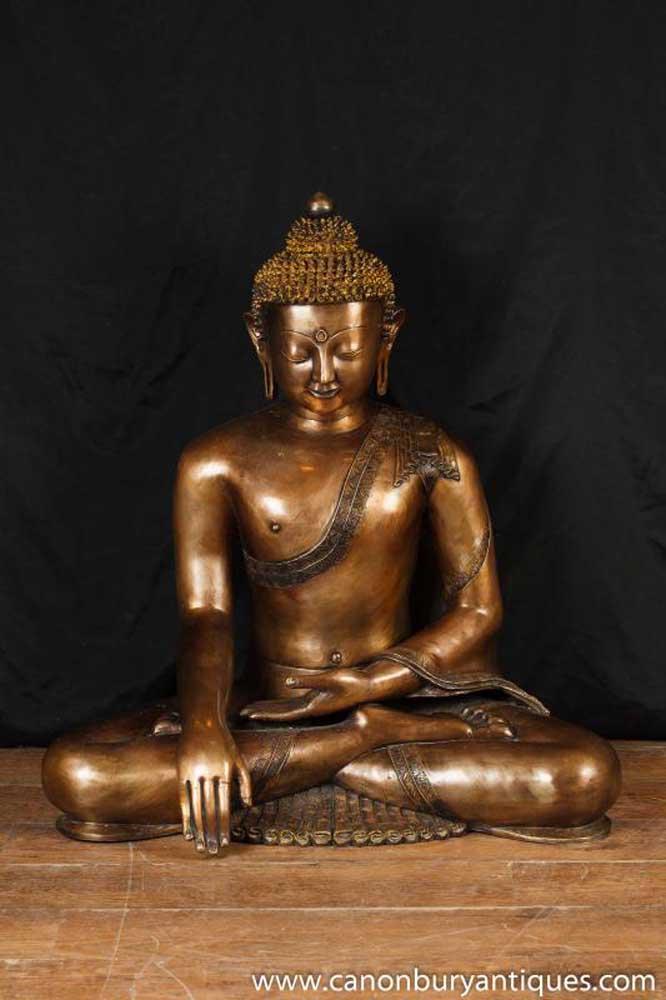 Large Bronze Thai Buddha Statue Buddhist Buddhism