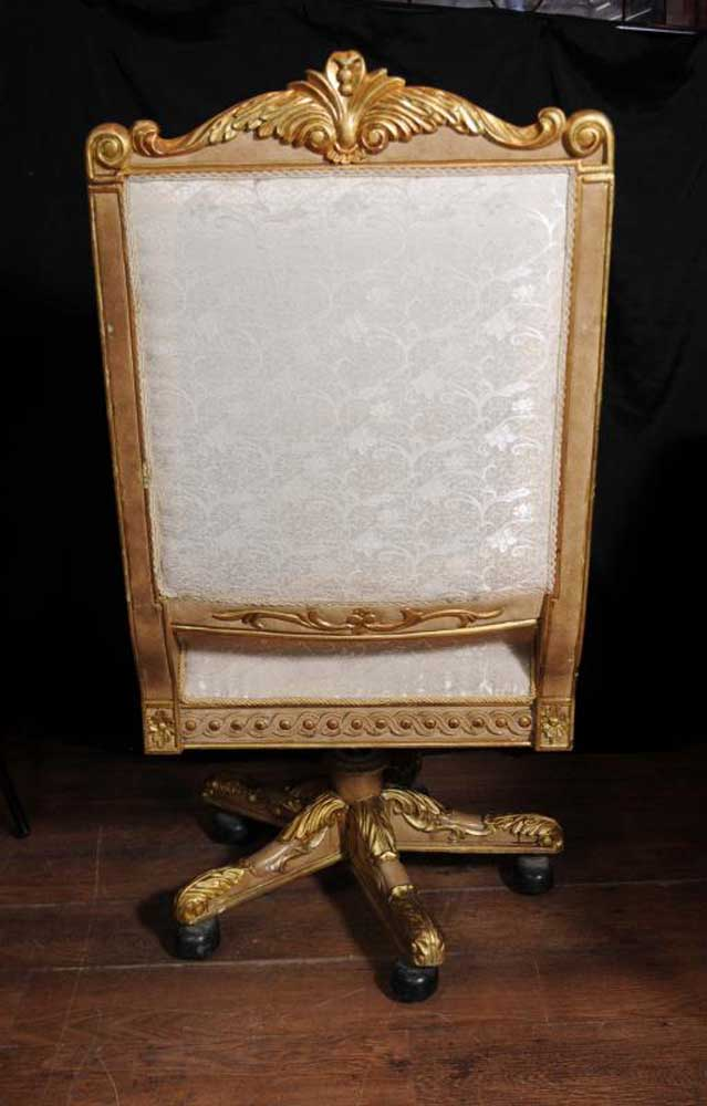 louis dining chairs chair rental miami large french gilt swivel office arm throne fauteil xv