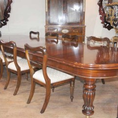 Antique Kitchen Tables Rolling Island For Mahogany Victorian Dining Table Chairs Set