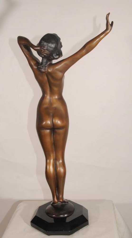 Nude Female Art Deco Statue Signed Philippe French Figurine