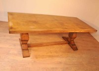 Oak Farmhouse Refectory Table Kitchen Dining Tables Rustic ...