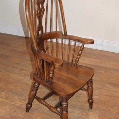 Windsor Kitchen Chairs Retro Dining Room Refectory Table Chair Set